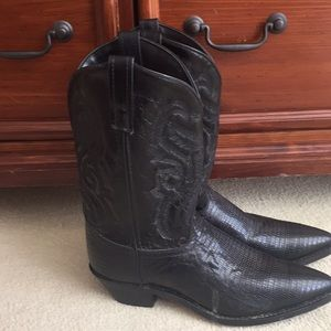 Vintage Fox Leather Made in Mexico Cowboy Boots